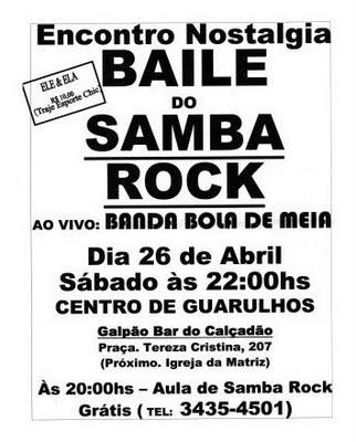 Baile – Samba Rock em Guarulhos – SP