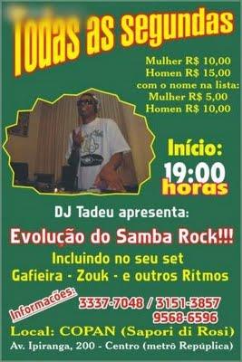 Toda segunda-feira: Evolução do Samba Rock