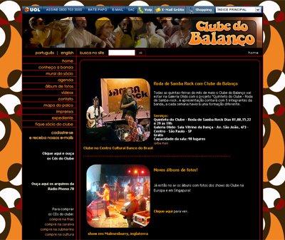 O novo site do Clube do Balanço