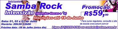 Intensivão de Samba Rock na Solum