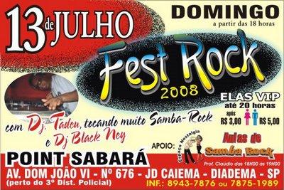 Fest Rock em Diadema – 13 de julho