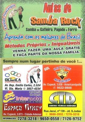 Aulas de samba rock com a Equipe Nostalgia