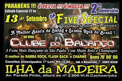 Five Special com Clube do Balanço