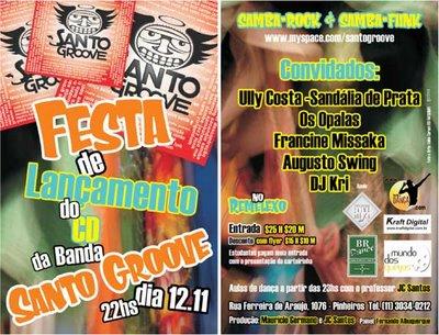 Lançamento do CD da banda Santo Groove