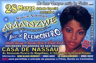 Musical Nostalgia no baile Amanzwe