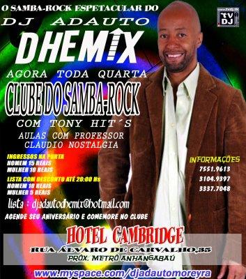 Clube do Samba Rock com convidado especial