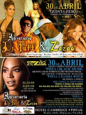 Aniversário Zezão Eventos e DJ Puff – É Hoje