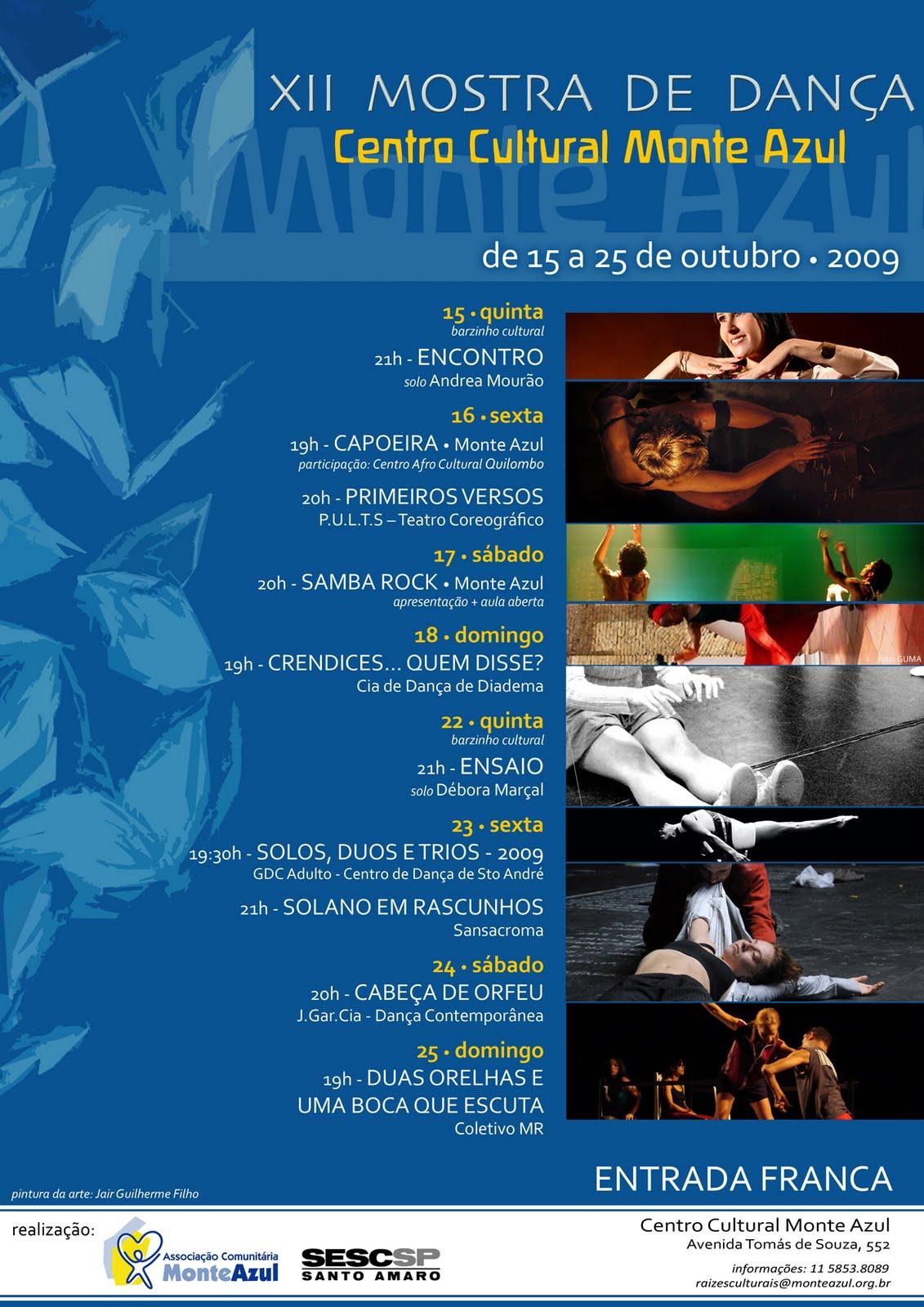 XII Mostra de Dança tem samba rock na programação
