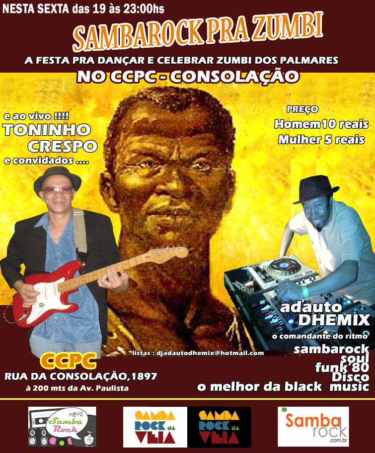 Samba Rock pra Zumbi no dia da consciência