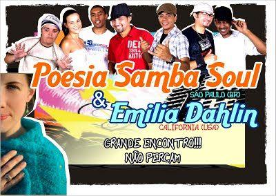 Show grátis: Poesia Samba Soul & Emilia Dahlin