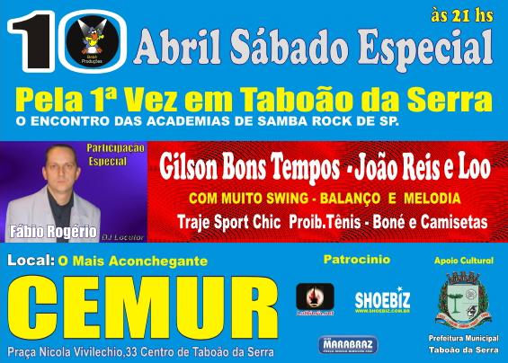 Samba rock em Taboão da Serra – Sábado Especial