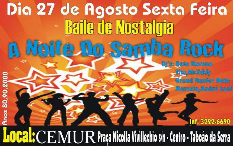 """""""A noite do samba rock"""" em Taboão da Serra"""