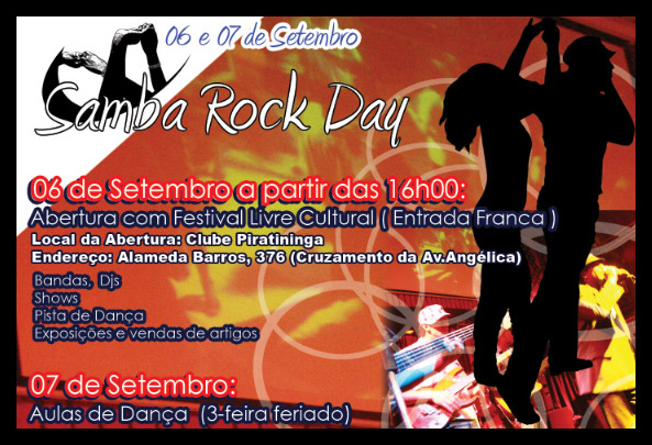 O Samba Rock Day se aproxima, participe!