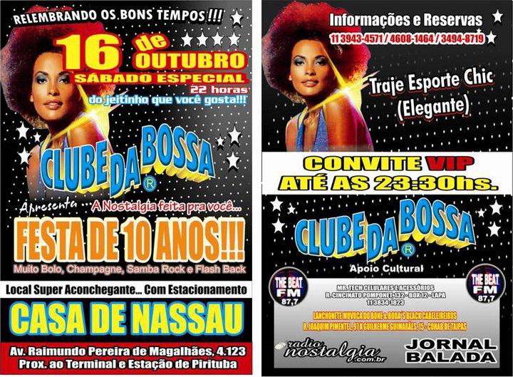 Festa de 10 anos do Clube da Bossa