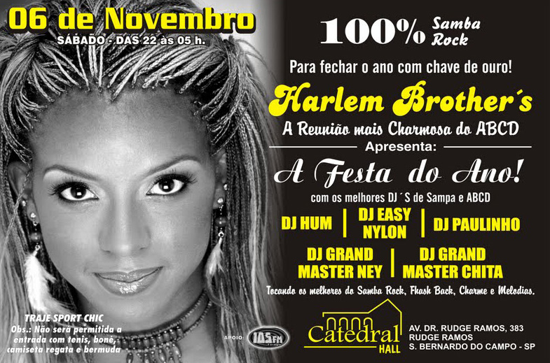 Harlem Brother's – A festa do ano!
