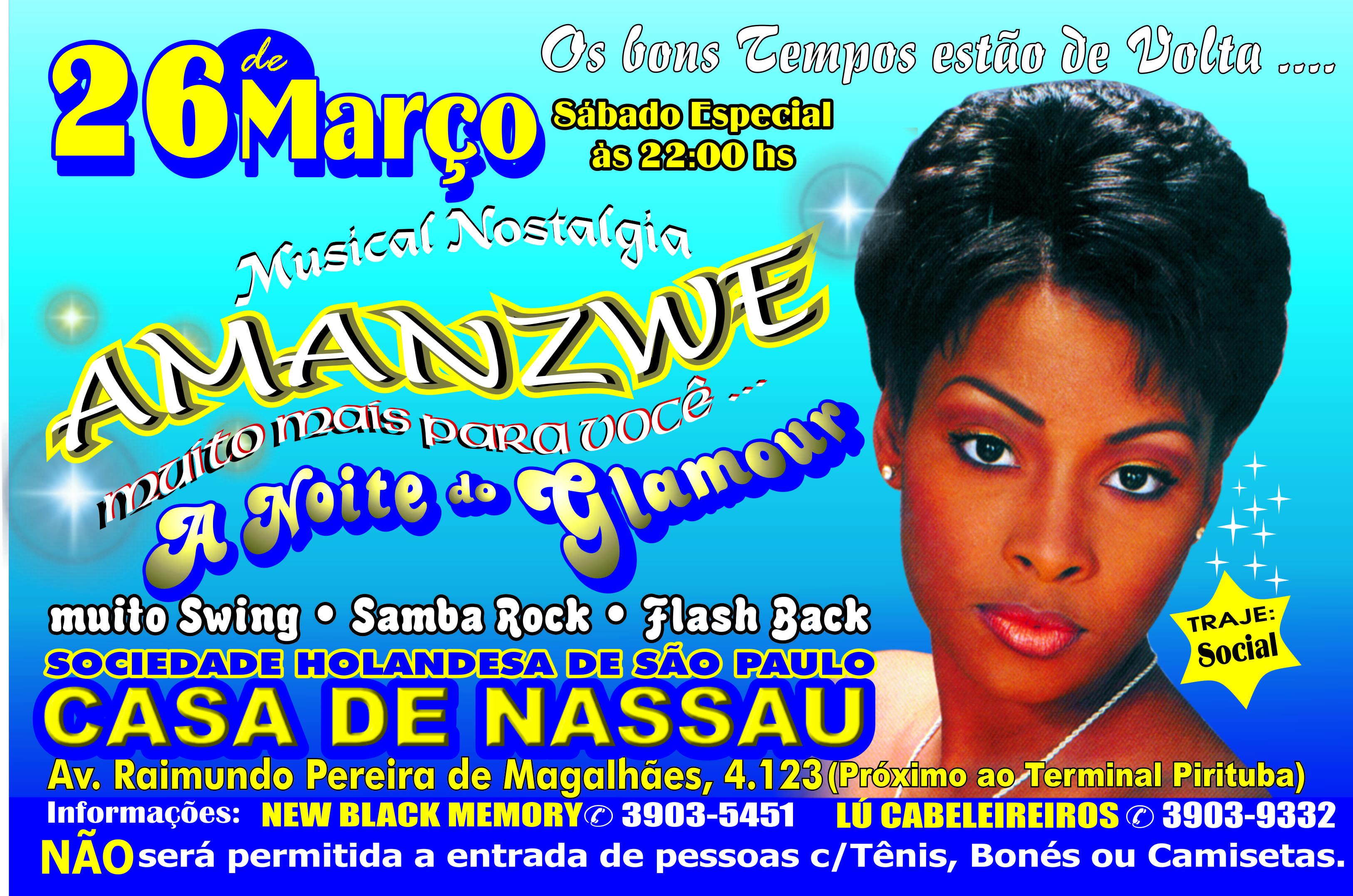 "Amanzwe apresenta ""A noite do glamour"""