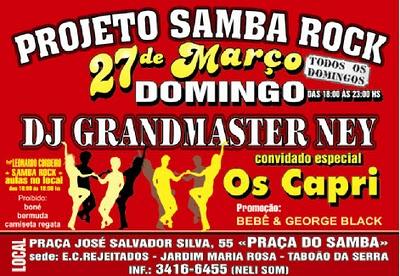 Projeto Samba Rock novamente no Taboão