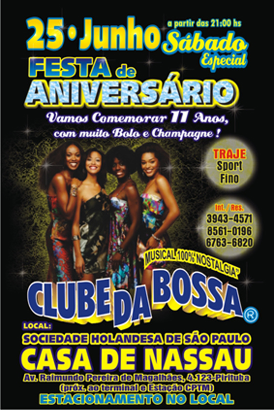 Festa de aniversário do Clube da Bossa