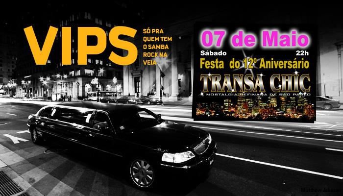 VIPs Samba Rock Na Veia: Transa Chic em maio traz convidado especial