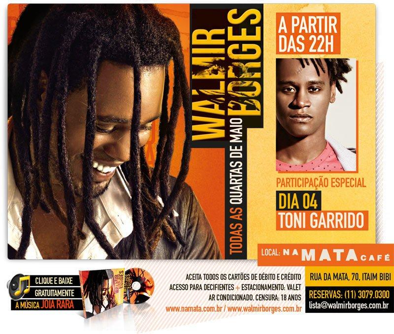"""Em maio tem Walmir Borges no """"Na Mata Café"""""""