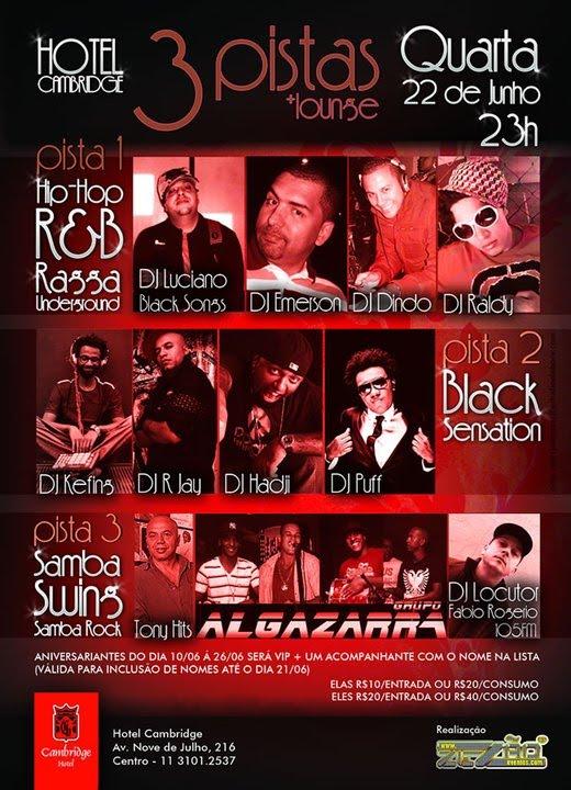 Próxima semana tem festa com Zezão Eventos e muito samba rock