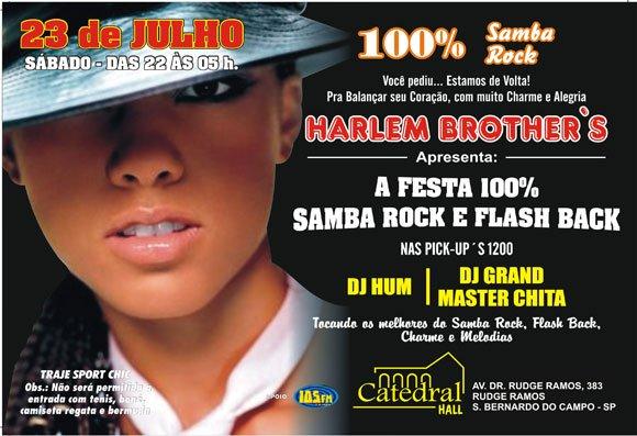 Harlem Brother's estão de volta com muito samba rock