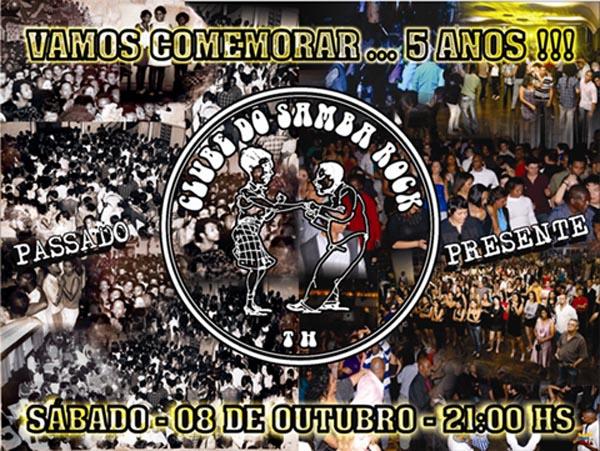 Clube do Samba Rock – Festa especial de 5 anos