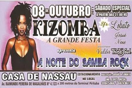 "Kizomba apresenta ""A noite do samba rock"""