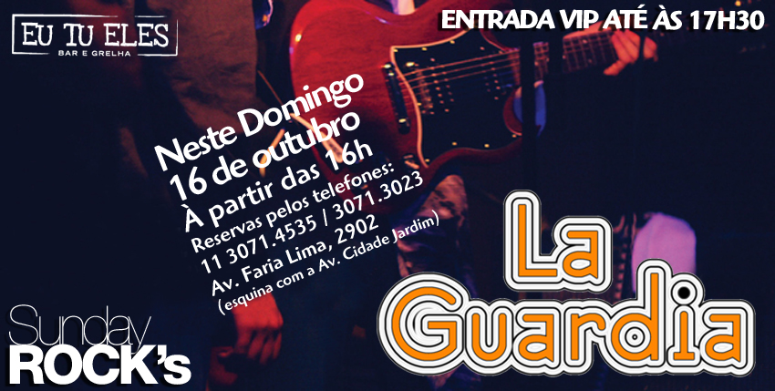 """La Guardia"" a nova banda do Grooves no Eu Tu Eles Bar"