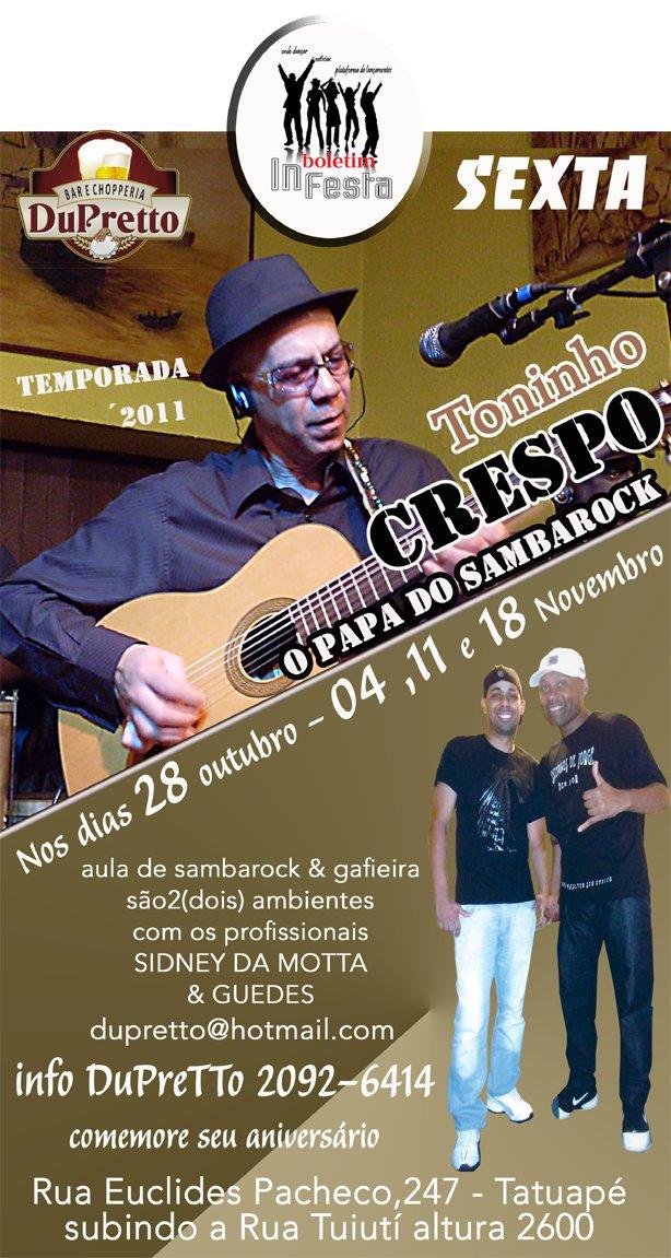 DuPretto recebe temporada de Toninho Crespo