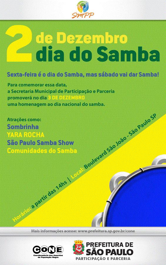 Dia do Samba no Boulevard São João