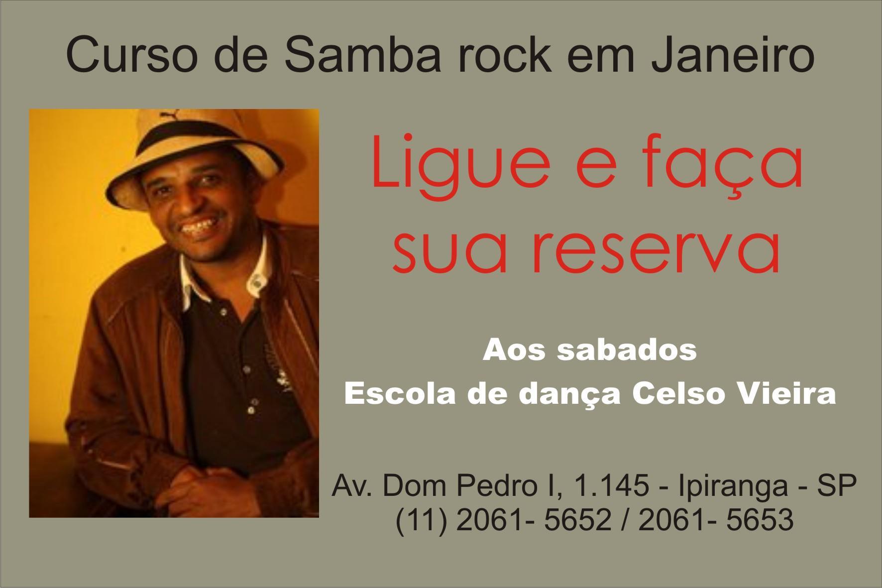 Curso de samba rock em janeiro com o professor Moskito