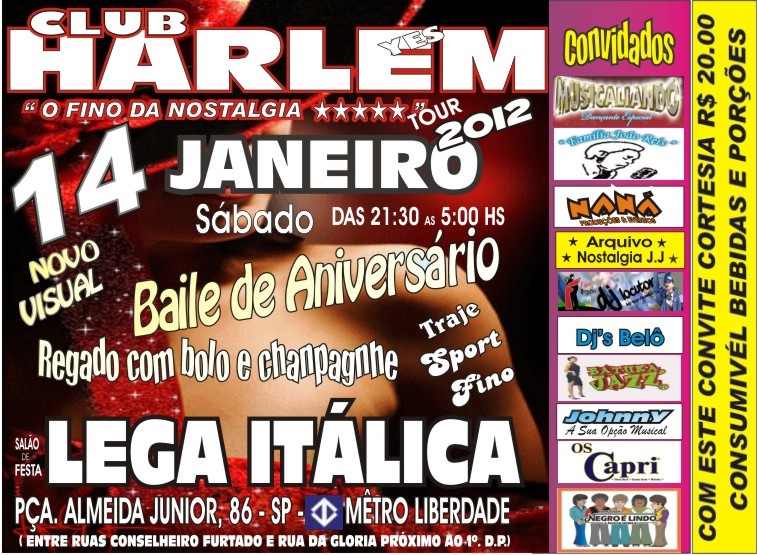 Club Harlem – Primeiro baile do ano