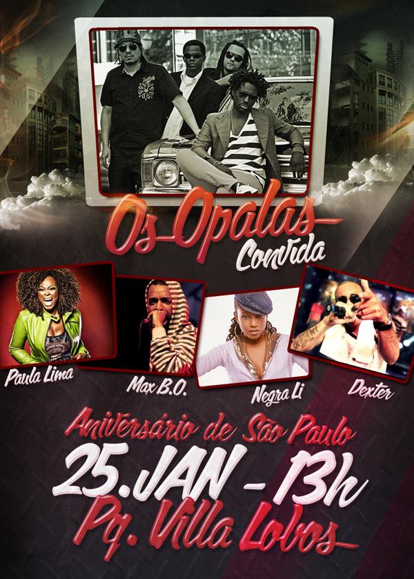 Samba rock no aniversário de São Paulo com Os Opalas e convidados