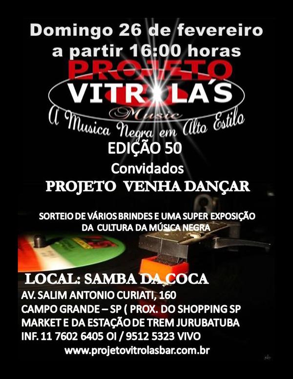 Projeto Vitrola's Bar traz samba rock em edição 50
