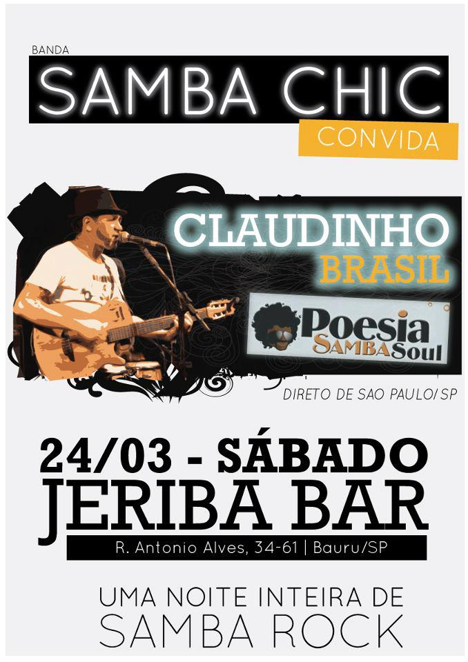 Banda Samba Chic faz show com Claudinho Brasil