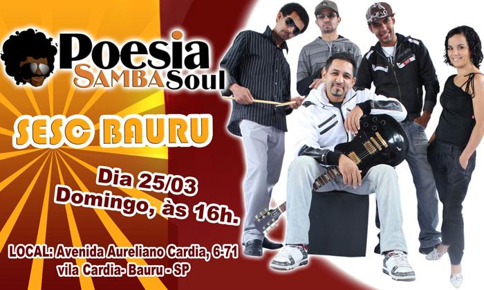 Poesia Samba Soul faz show no interior de São Paulo