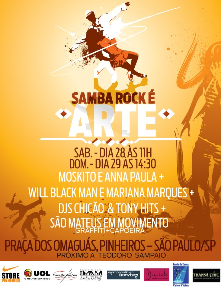 """Evento """"Samba Rock é Arte"""" vem aí!"""