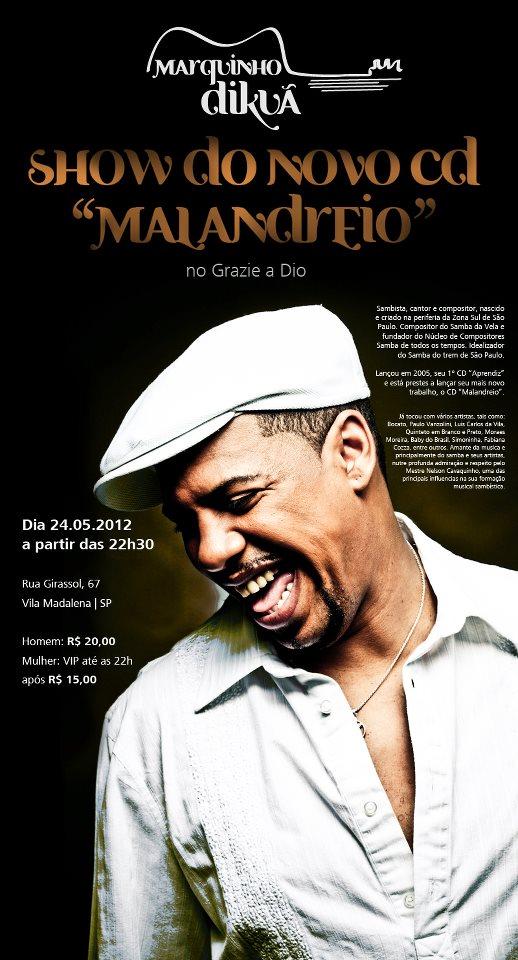Marquinho Dikuã lança novo álbum no Grazie a Dio