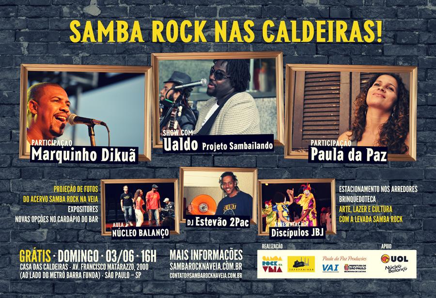 Samba rock no TodoDomingo na Casa das Caldeiras de graça