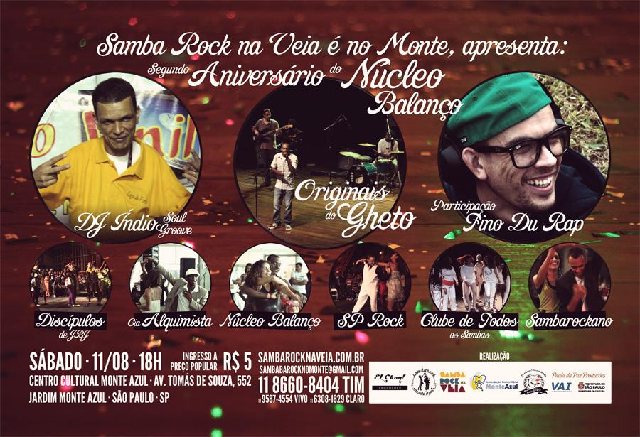 Samba rock no Monte Azul festeja Núcleo Balanço com muitas atrações
