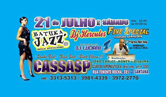 No próximo sábado tem baile no CASSASP #nota