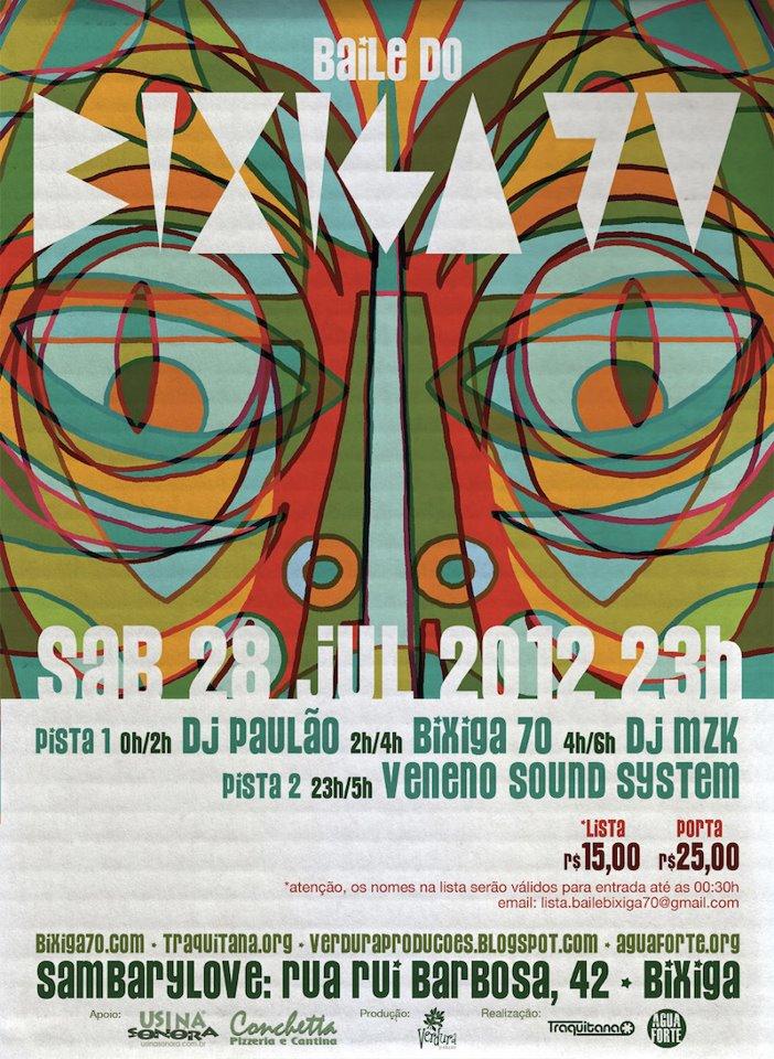 Baile do Bixiga 70 traz também DJs Paulão e MZK #nota
