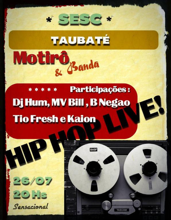 Hoje tem DJ Hum e o Coletivo Motirô no SESC #nota