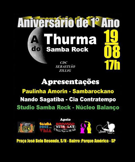 A Thuma do Samba Rock faz festa pelo 1º aniversário #nota
