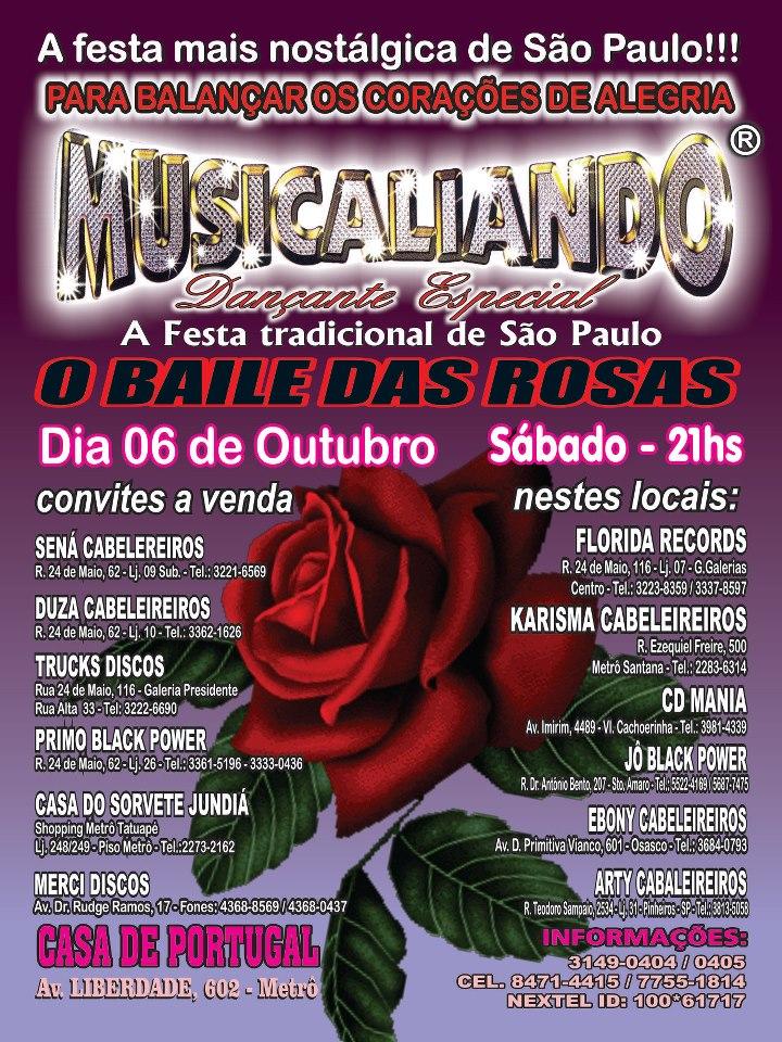 Musicaliando realiza Baile das Rosas em outubro #nota
