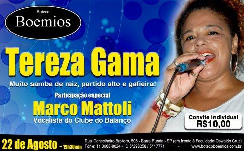 Boteco Boêmios com Tereza Gama e Mattoli convidado #nota