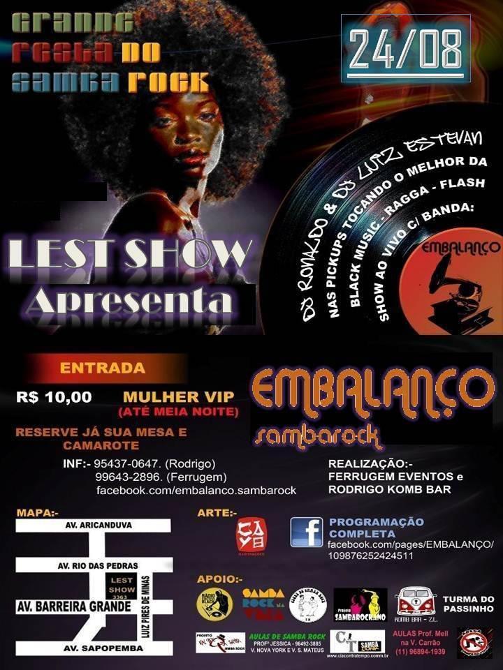 Lest Show apresenta banda Embalanço e DJs #nota