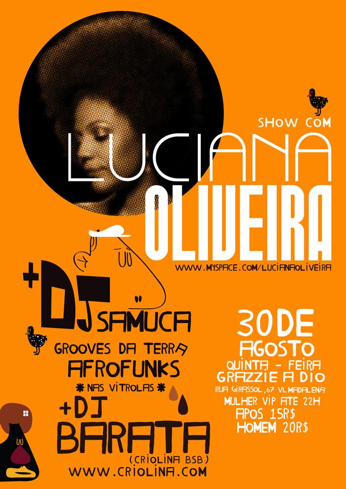 Luciana Oliveira faz show no Grazie a Dio #nota