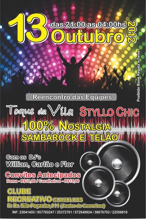 Toque de Vila vem aí em outubro com muito samba rock #nota